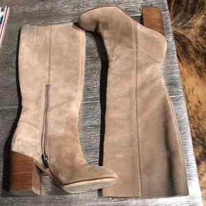 Shoes - Via Spiga Suede Knee High Boots